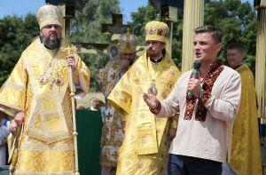 На запрошення Михайла Головка настоятель ПЦУ Епіфаній приїхав на Збаражчину вшанувати пам'ять воїнів УПА (фото, відео)