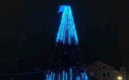 З головної ялинки Тернополя «впала» зірка (фотофакт)