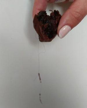 Тернополянка купила улюблені цукерки з волоссям (фотофакт)